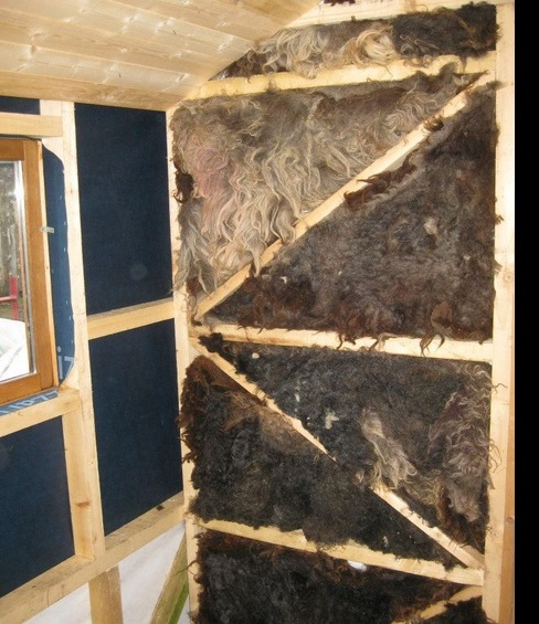 Teach nollaig a look at the construction process Wool house insulation